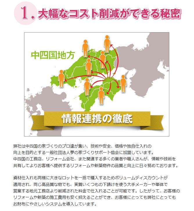 徳島のリフォームにかかる費用が削減ができる秘密